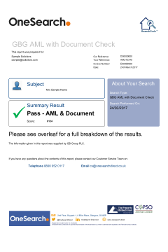 GBG AML with Document Check thumbnail