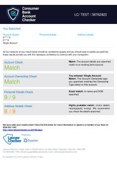 Consumer Bank Account Checker thumbnail